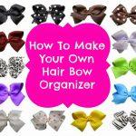 DIY Hair Bow Organization