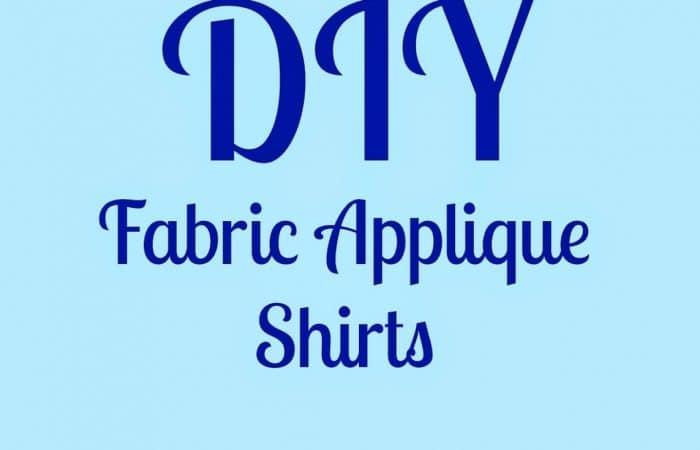 DIY Fabric Applique Shirts