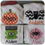 Chic-A-Dee Embroidery: Halloween Shirts