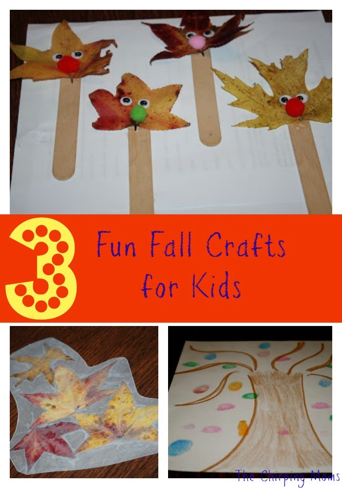 Fall Craft Ideas for Kids : The Chirping Moms