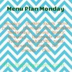 All About Organization Week!!—Starting with a Menu Plan Monday