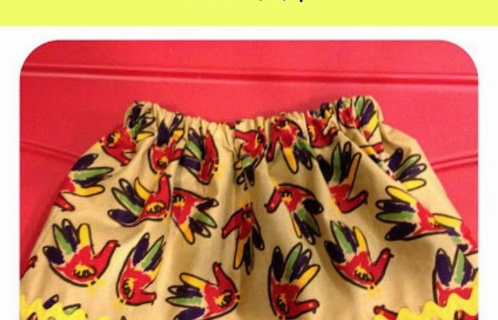Easy DIY Thanksgiving Skirt for Girls