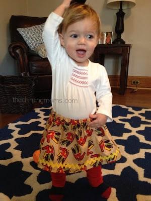 Easy DIY Thanksgiving Skirt for Kids : The Chirping Moms