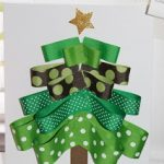 Holiday Crafting for Moms:  Ribbon Tree and JOY letters!