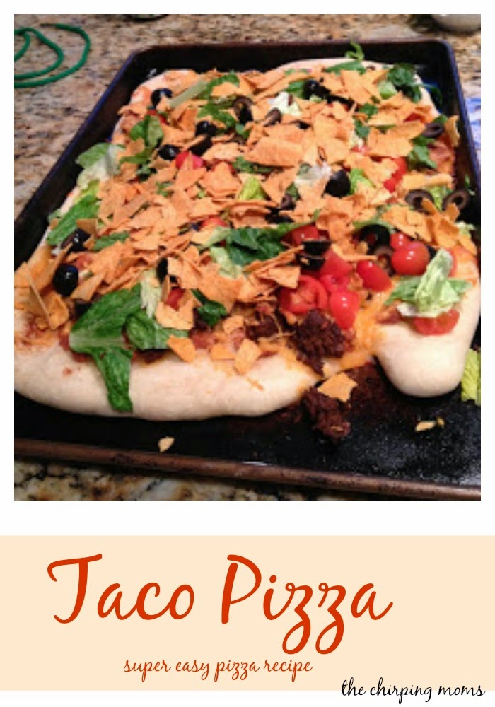 Taco Pizza Recipe || The Chirping Moms