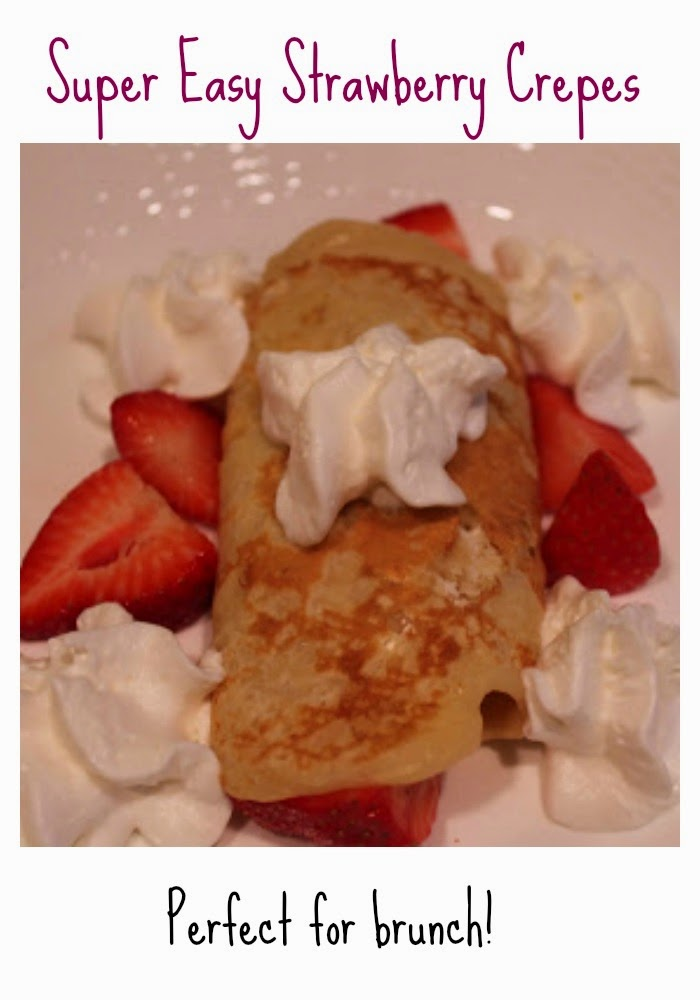 Strawberry Crepes Recipe || The Chirping Moms