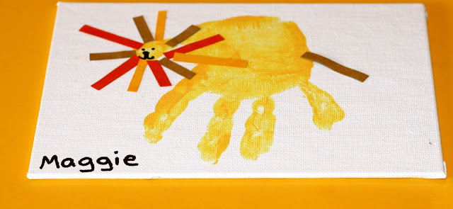 Lion handprint craft for kids the chirping moms for Lion crafts for toddlers