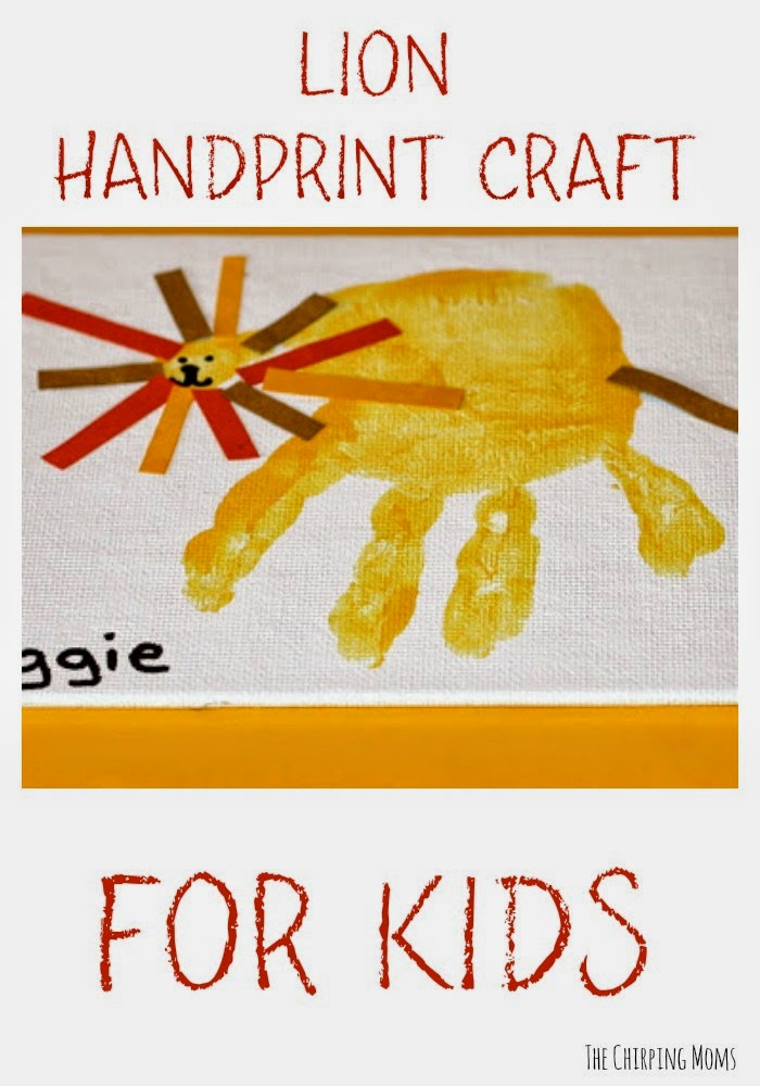 Lion Handprint Craft for Kids || The Chirping Moms
