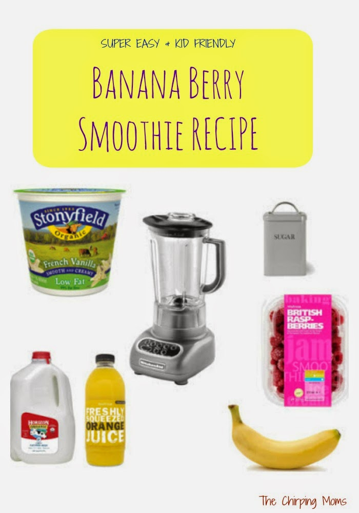 Banana Berry Smoothie Recipe || The Chirping Moms