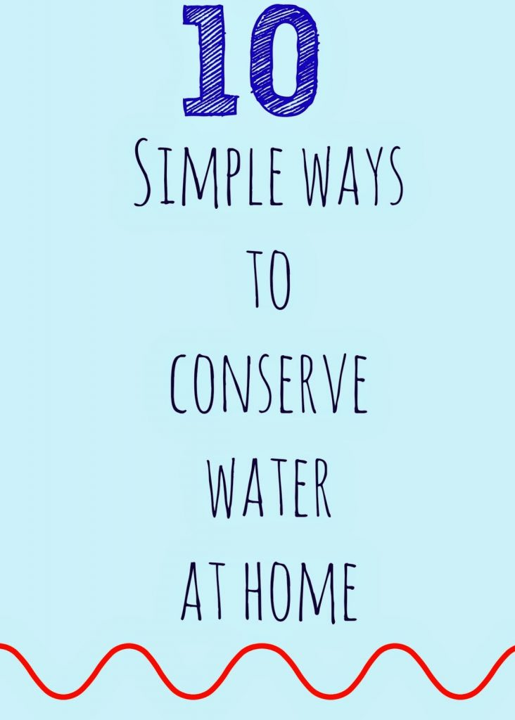 10 Simple Ways to Conserve Water at Home || The Chirping Moms