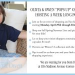 """Olivia and Owen: """"Popping up"""" on Madison Ave This Week"""