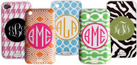 monogrammed cell phone case