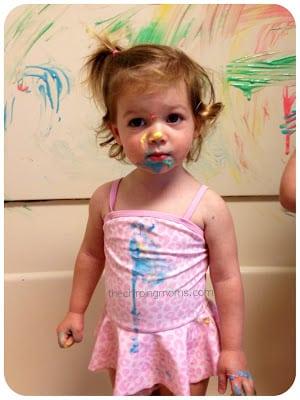 Fun With Yogurt Paint || The Chirping Moms