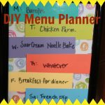 Super Simple DIY Menu Planner