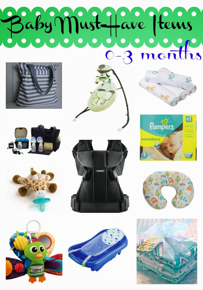 Baby Must-Have Items: 0-3 Months