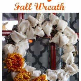 DIY Burlap Fall Wreath
