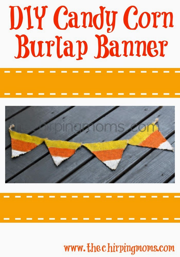 DIY Candy Corn Burlap Banner II The Chirping Moms