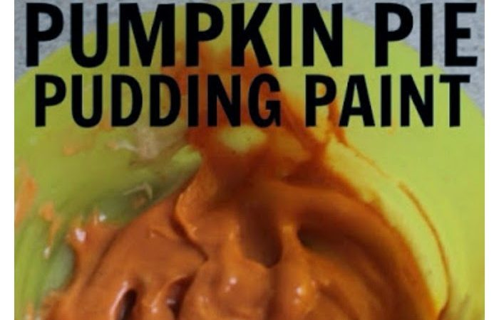 Pumpkin Pie Pudding Paint