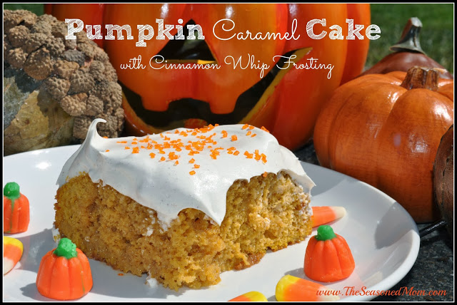 Pumpkin Caramel Cake : The Chirping Moms