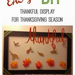 DIY Thankful Display