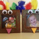 "Turkey Frame Craft and Teaching Kids about ""Giving"""