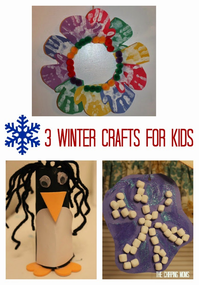 3 Winter Crafts for Kids || The Chirping Moms