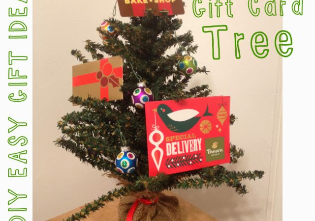 Last Minute Gift Idea:  Gift Card Tree