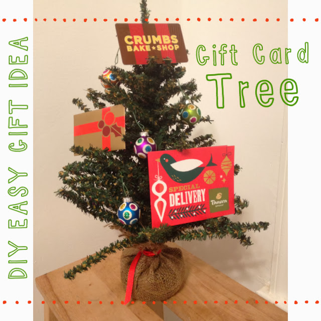 Last Minute Gift Idea Gift Card Tree The Chirping Moms