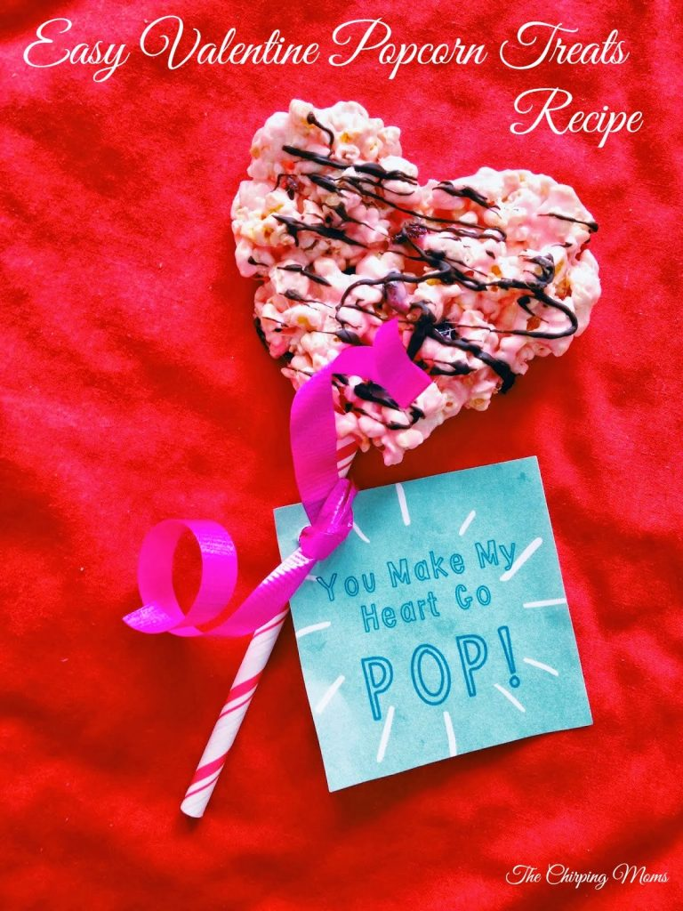 Easy Valentine Popcorn Treats (with Free Valentine Printable) || The Chirping Moms