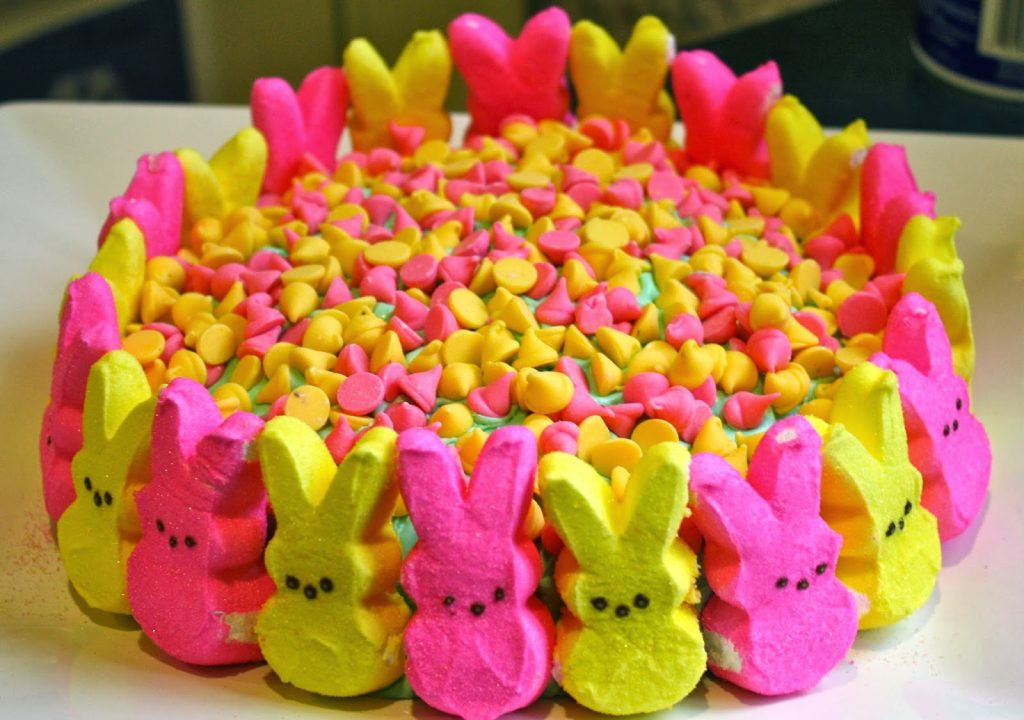 Easy Easter Recipes For Toddlers with peeps and spring chocolate chips