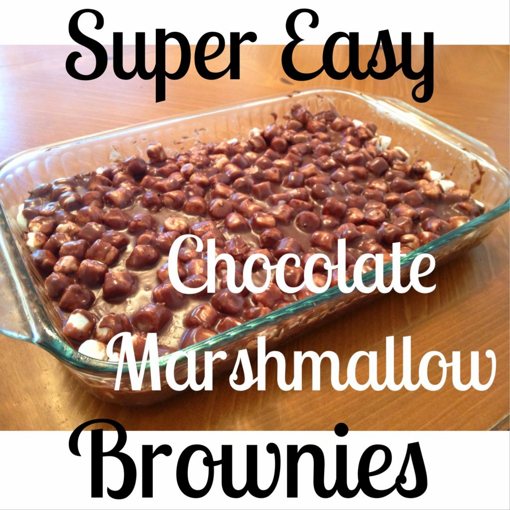 Super Easy Chocolate Marshmallow Brownie Dessert || The Chirping Moms