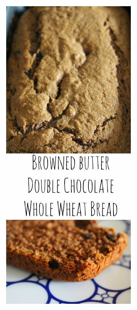 Brown Butter Double Chocolate Whole Wheat Bread || The Chirping Moms