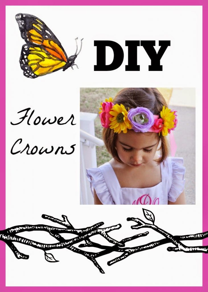DIY Flower Crowns || The Chirping Moms
