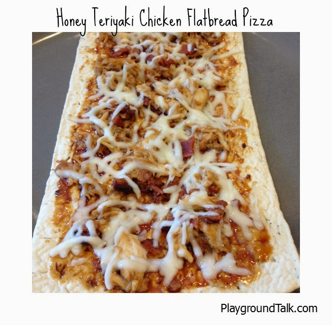 Honey Teriyaki Chicken Flatbread Pizza