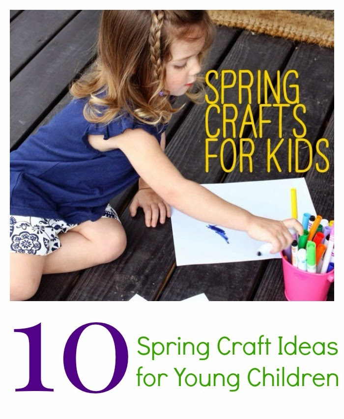 Springtime Crafts for Kids || The Chirping Moms