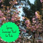 Spring Scavenger Hunt with Kids (Free Printable)