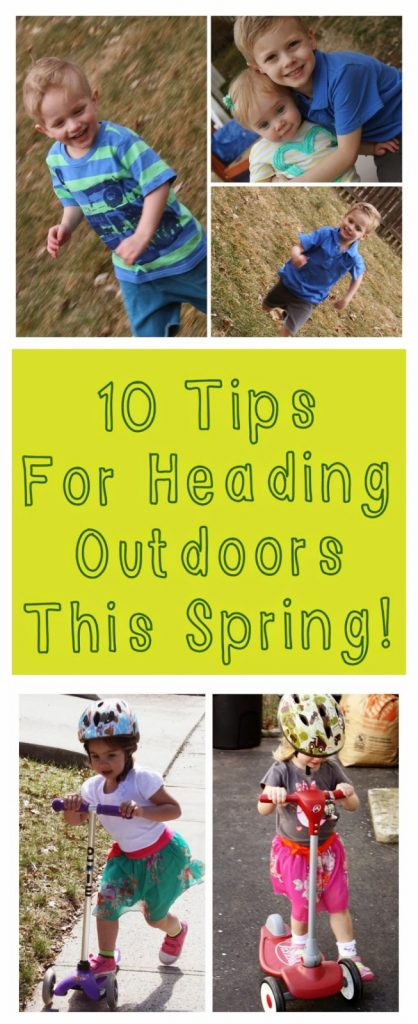 Tips for Heading Outdoors with Kids || The Chirping Moms
