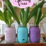DIY Spring Mason Jar Vase