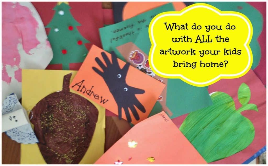 Save the Memories, Not the Clutter:  Create a Preschool Memory Art Scrapbook