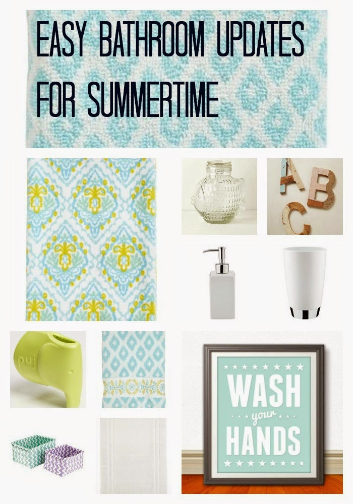 Easy Bathroom Updates for Summer || The Chirping Moms