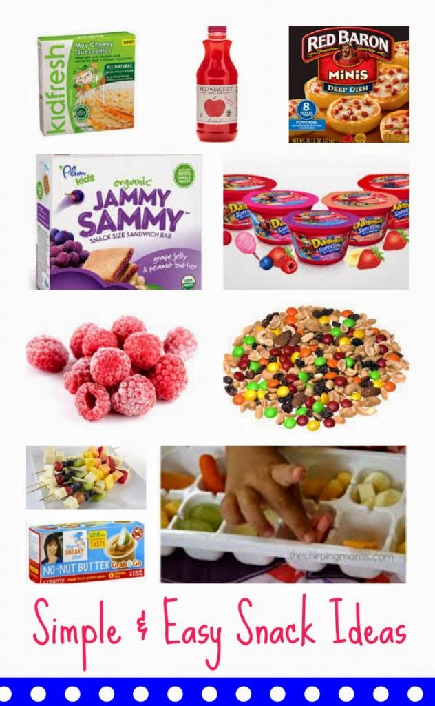 Simple & Easy Snack Ideas for Kids || The Chirping Moms