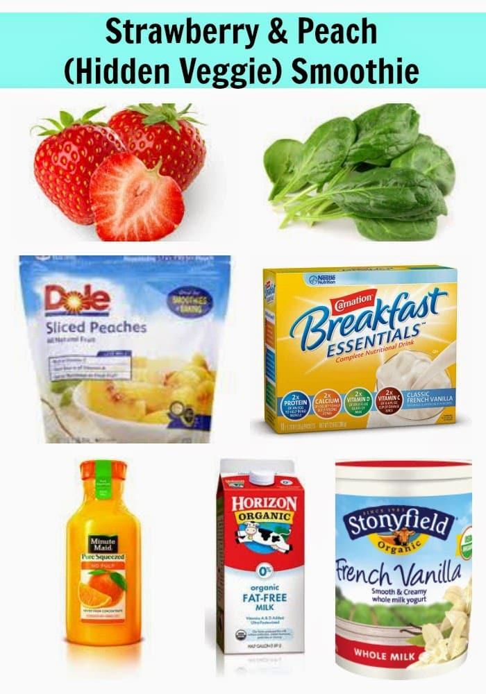 Strawberry & Peach (Hidden Veggie) Smoothie || The Chirping Moms