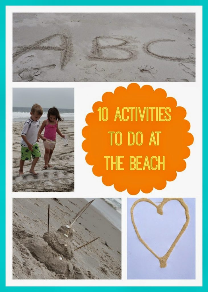 10 Activities to Do at the Beach || The Chirping Moms