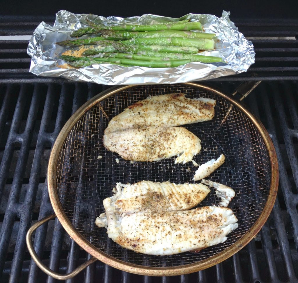 Heat The Grill On Medhigh Once Heated, Lower To Medium Take The Grill  Basket And Spray With Pam� Let's Grill, Then Place It On The Grill