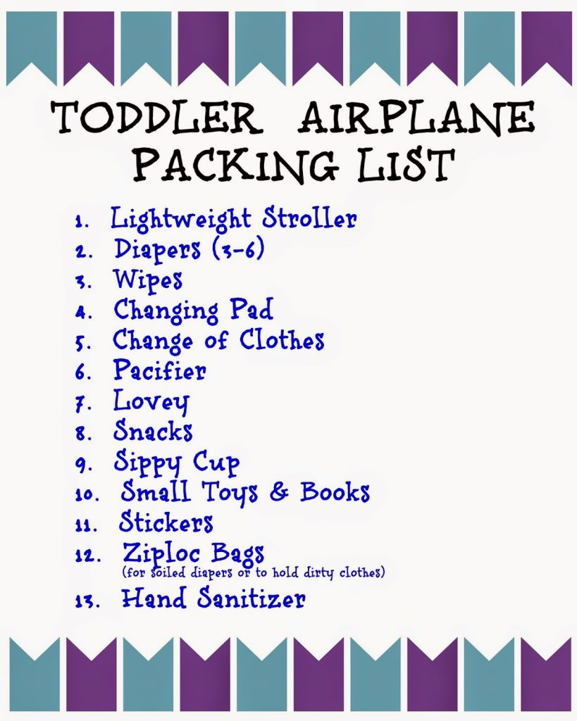 Flying With Children: Tips And Printable Packing Lists For