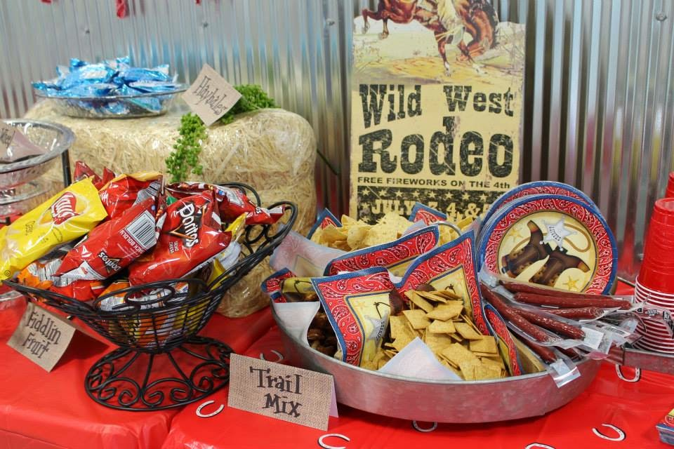 Wild West Birthday Party Menu