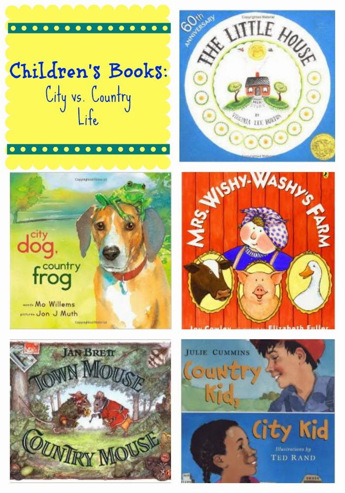City vs. Country Life Books for Children : The Chirping Moms