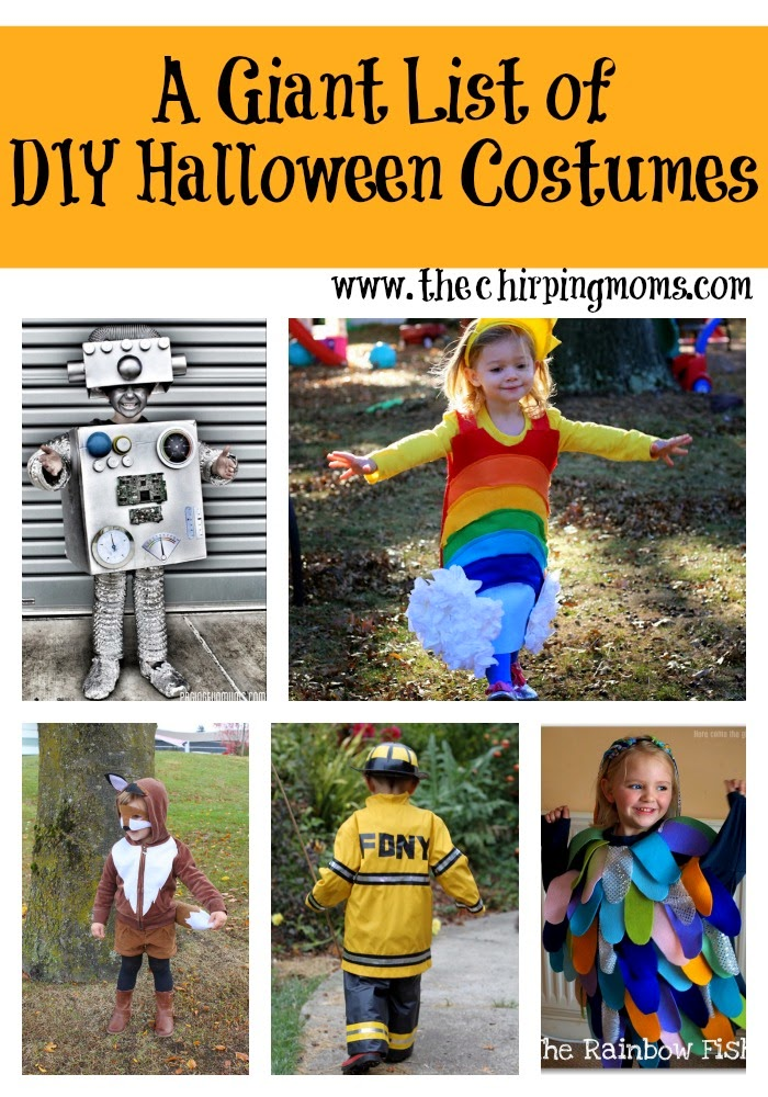 A GIANT list of DIY Halloween Costume Ideas : The Chirping Moms