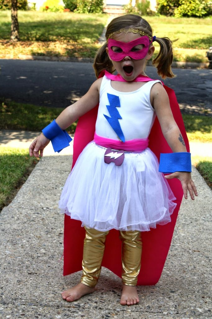 For another DIY Halloween costume for girls see our Rainbow Costume from last year. & DIY Super Hero Costume For Girls - The Chirping Moms