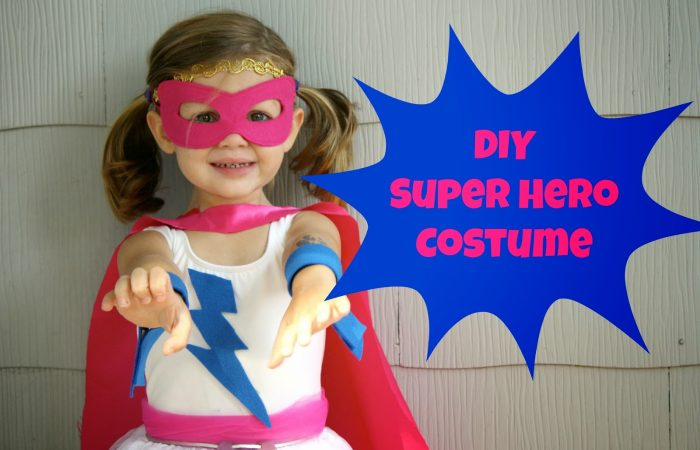 DIY Super Hero Costume For Girls